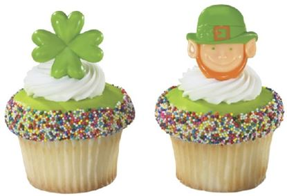 * Leprechaun & Shamrock Rings 12 count