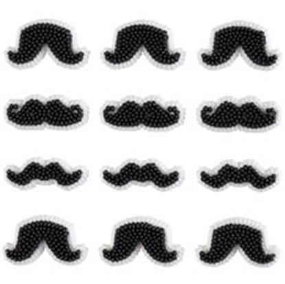 Mustache Icing Decorations 18 count