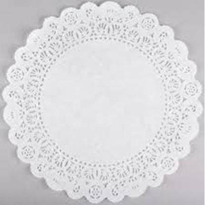 """8"""" Round White Lace Doilies 25 count"""