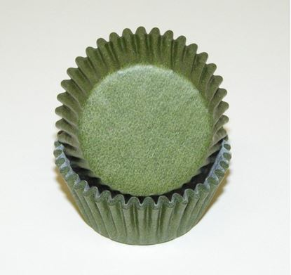 """Olive Mini Cups 1 1/4"""" Base x 3/4"""" Wall approx 100"""