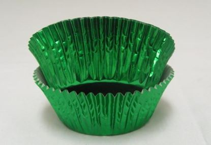"Green Foil Cups 2"" Base x 1 1/8"" Wall approx 100"
