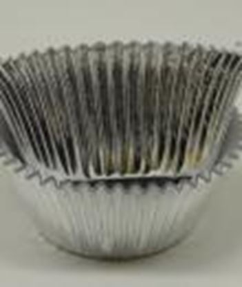"""Jumbo Silver Foil Cups 2 1/2"""" Base  x 1 7/8"""" Wall approx 100"""