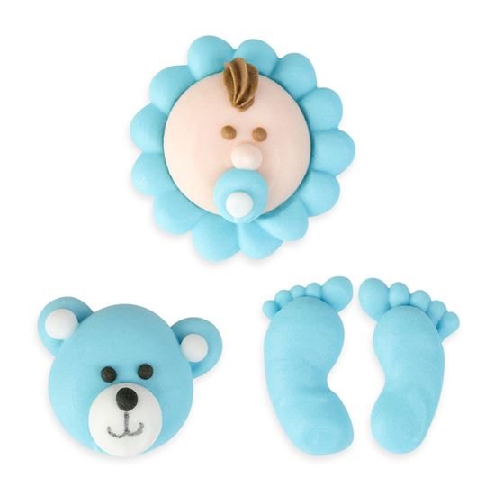 """Baby Blue Set Royal Icing 1/2""""-1  1/4"""" 8 count"""