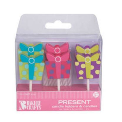 * Gift Box Candle Holder & Candle 6 pieces