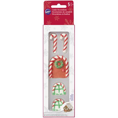Candy Cane Icing Decorations