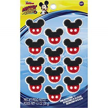 Mickey Mouse Roadster Icing Decorations 9 count