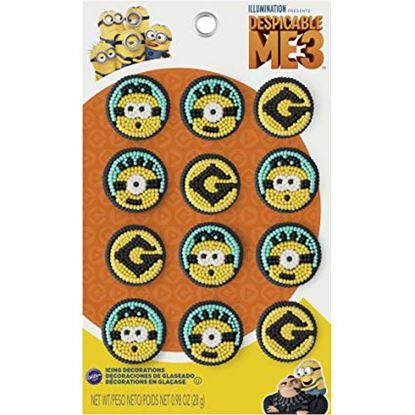 Minions Icing Decorations 9 count