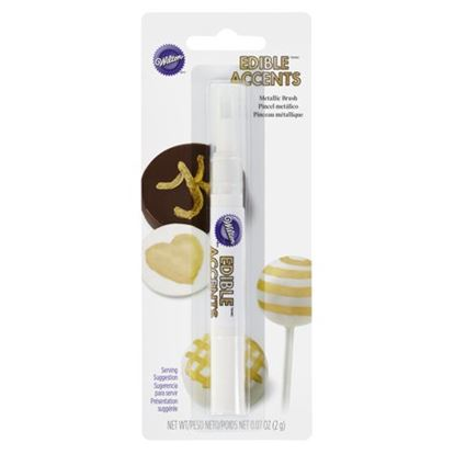 Gold Metallic Click Candy Brush Each