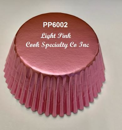 "Light Pink Foil Cup 2"" B x 1 1/4"" W 500 count"