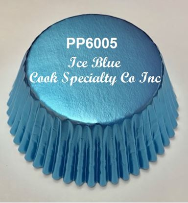 "Ice Blue Foil Cup 2"" B x 1 1/4"" W 100 approx"