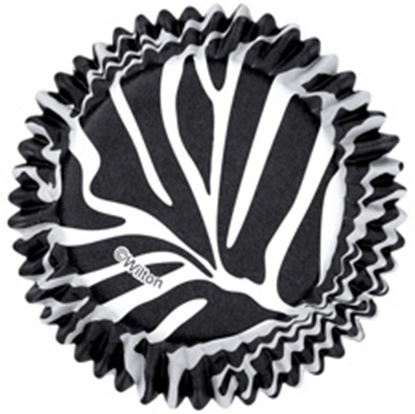 * Zebra Striped Cupcake Papers 36 count