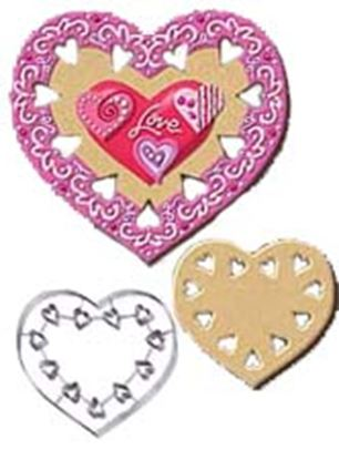 "* Heart Cookie Cutter with cutouts 7 1/2"" Each"