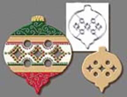 "* Ornament Cookie Cutter with cutouts 7 1/2"" Each"