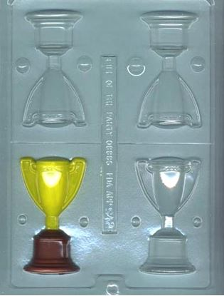 Trophy Cup 3D Candy Mold makes 2 4 cavity Each