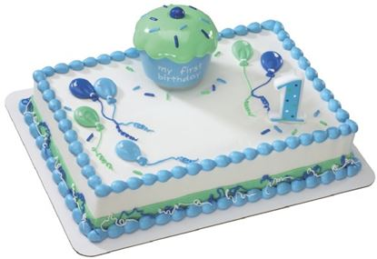 * Cupcake Keepsake Blue DecoSet® Each