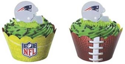 * NFL Reversible Cupcake Wraps 24 count