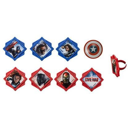 * Captain America Divided Rings 12 count