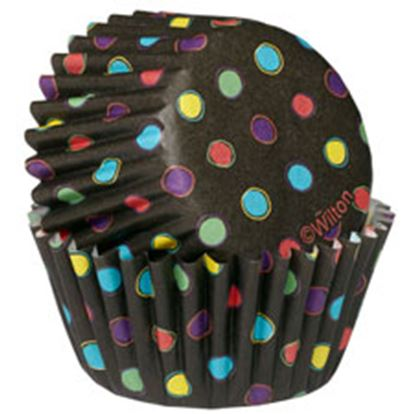 Black with Neon Dots Mini 100 count