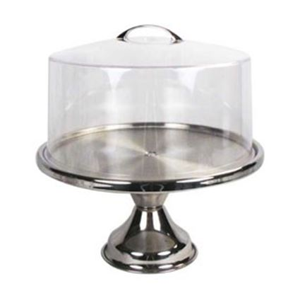 Cake Stand Stainless Steel with Cover Each