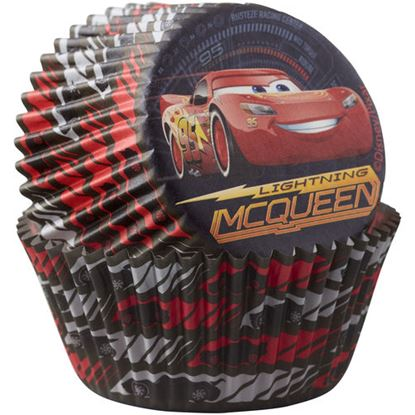"""Cars Baking Cups 2"""" Base 50 count"""