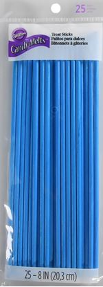 "Lollipop Sticks Blue 8"" 25 count"