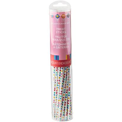 "Lollipop Sticks dots 6"" 30 count"