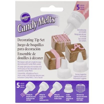 Candy Melt Decorating Tip Set 5 count