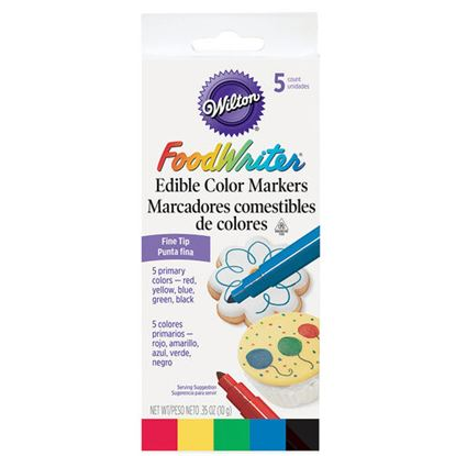 FoodWriter Markers Fine Tip 5 color