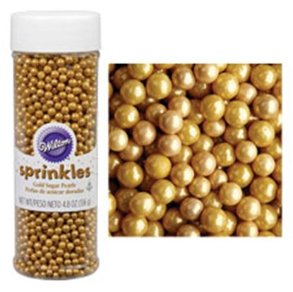 Sugar Pearls Gold 5 oz