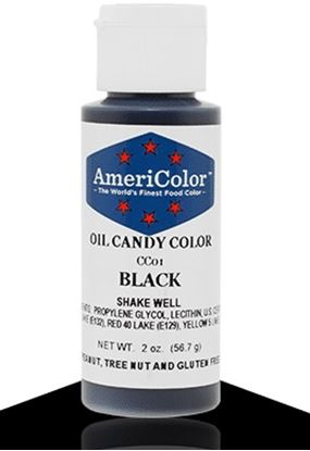 Black 2 oz Candy Color Americolor Each