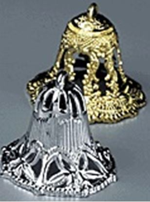 """Gold Lace Bell 1 1/2"""" 12 count"""