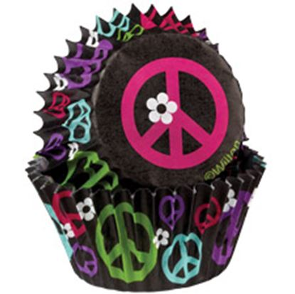 * Peace Sign Baking Cups 75 count