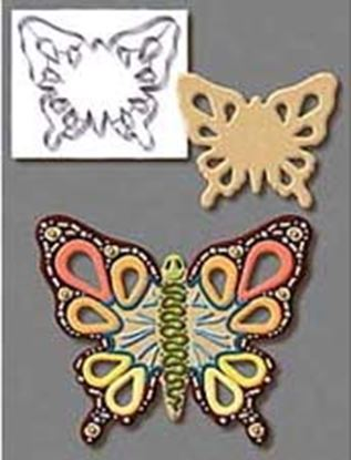 "* Butterfly 7.5"" Cutter with cutouts Each"