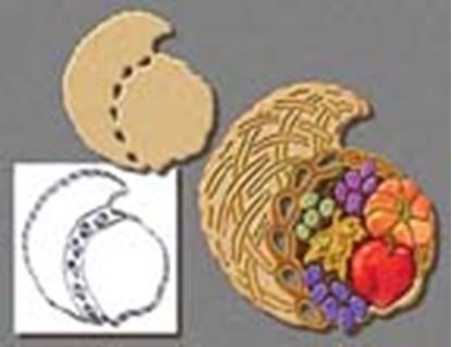 "* Cornucopia Cookie Cutter with cutouts 7 1/2"" Each"