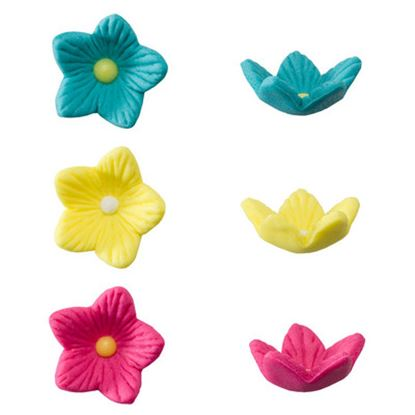 * Flowers Star Shaped Assorted 6 count