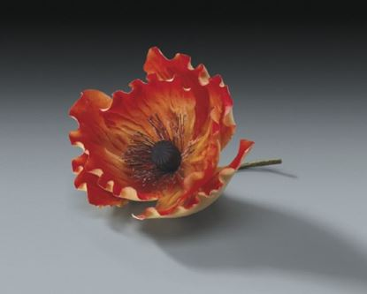 "* Orange Poppy Gum Paste 3"" Each"