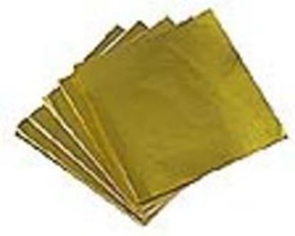 "Foil Wrappers Gold 3""x 3"" approx 500"