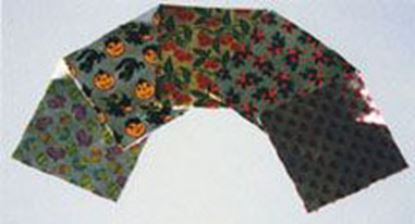 """Foil Wraps Holly & Bows 3""""x3"""" approx 500"""