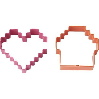 * Pixel Cookie Cutter 2 piece Set