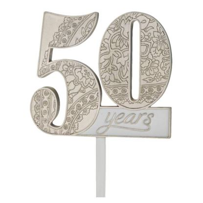 "50th Anniversary Pick 4"" x 3 1/2"" Each"
