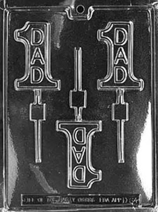 #1 Dad Sucker Candy Mold 3 cavity Each