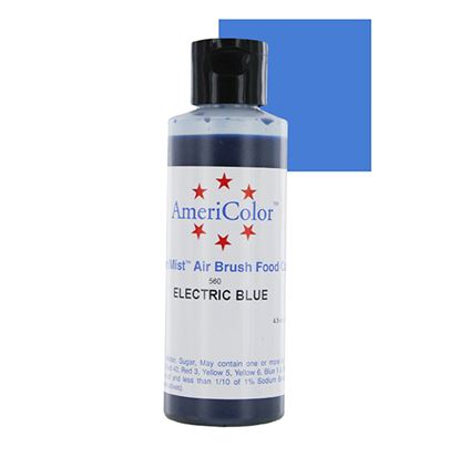 Electric Blue 4.5 oz Amerimist Airbrush Color Each