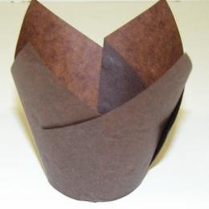 """Brown Tulip Cups 2"""" Base approx 50"""