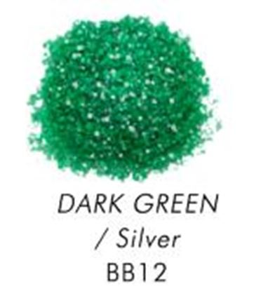 Bakery Bling Green with Silver Glitter 3 oz
