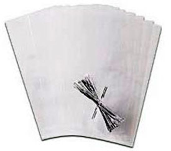 "Bags Clear with Ties 4"" x 9 1/4"" 25 count"