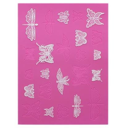 * Butterflies Cake Lace Mat Each
