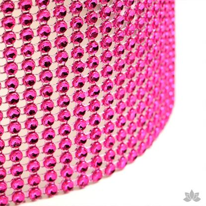 "Glam Ribbon Hot Pink 36"" x 4 3/4"" Each"