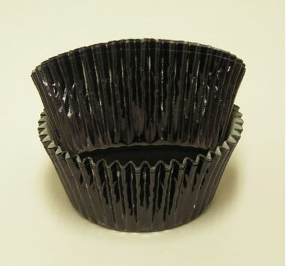 """Black Foil Cups 2"""" Base x 1 1/4"""" Wall approx 500"""