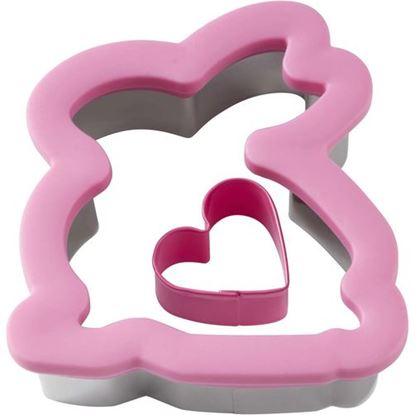 """* Bunny With Heart Comfort Grip Cutter 4.5"""" Each"""
