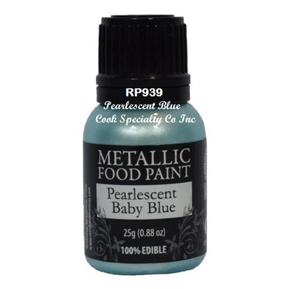 * Metallic Food Paint Pearlescent Blue 25 Gram